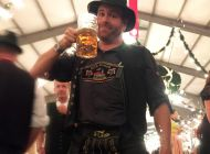 Expedition Unknown host Josh Gates in Germany drinking beer